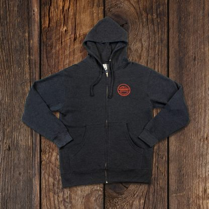 charcoal hoodie front