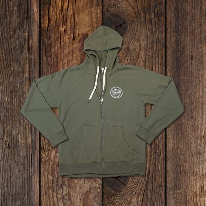 olive hoodie front