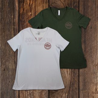 womens v neck both colors